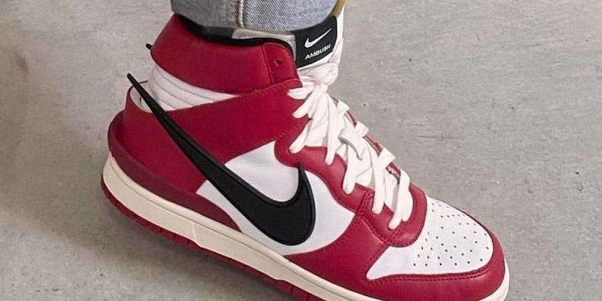 "New 2021 Ambush x Nike Dunk High ""Chicago"" Basketball Shoes"