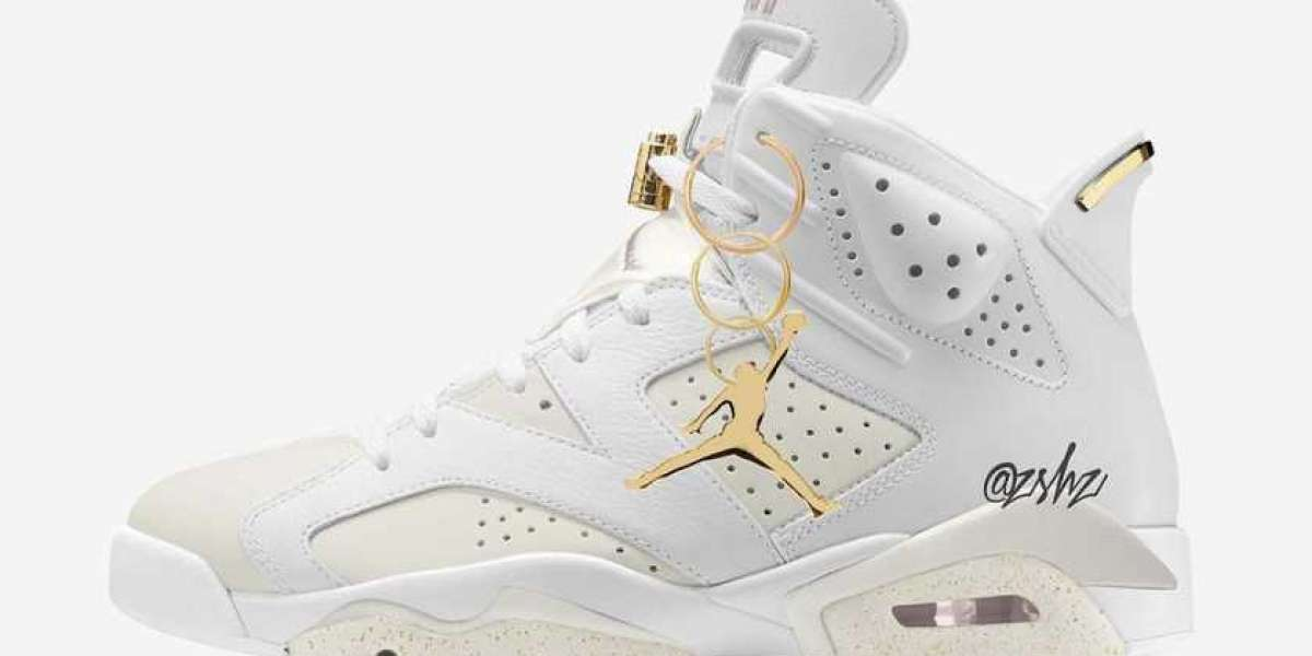 "Air Jordan 6 WMNS ""Gold Hoops"" DH9696-100 will be officially released on July 1st"
