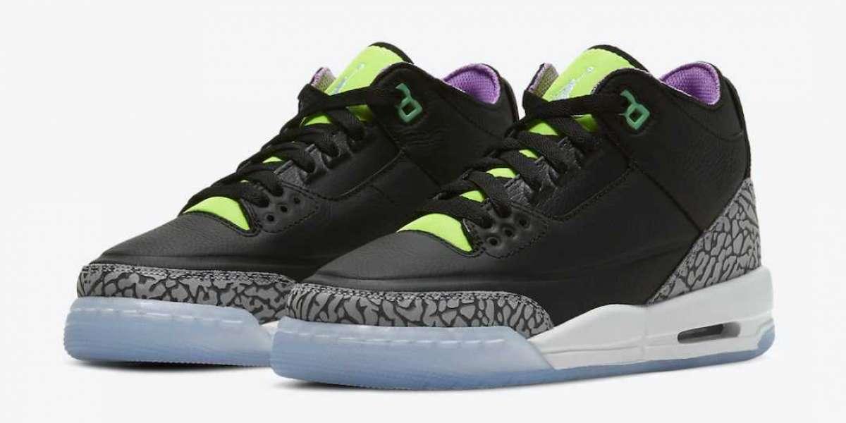 "DA2304-003 Air Jordan 3 Kids ""Electric Green"" released on April 1"
