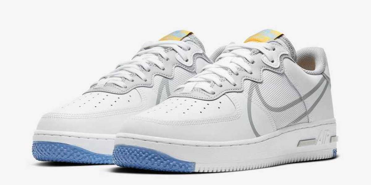 Hot Sale Nike Air Force 1 React Light Smoke Grey CT1020-100